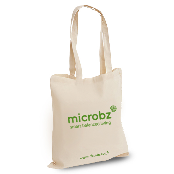 Microbz product: Cotton tote bag with microbz logo