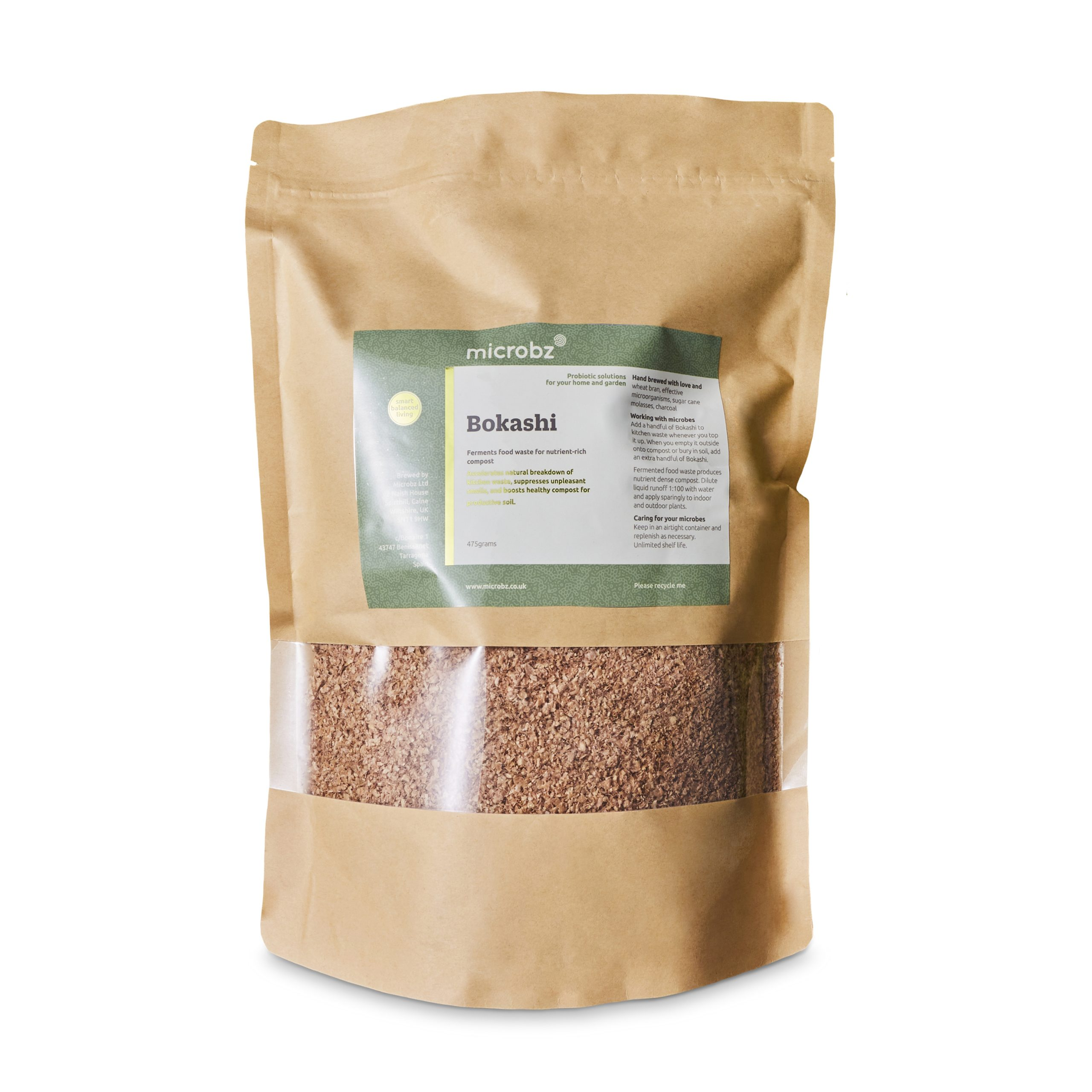 an image of natural wheat bran in a brown bag