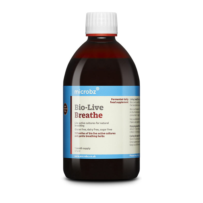 Bio-Live Breathe: A single bottle of Bio-Live Breathe on a white background