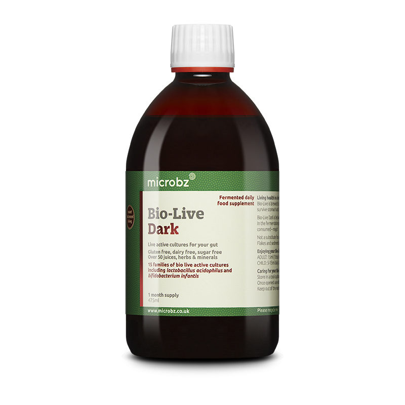 Bio-Live Dark: A single bottle of Bio-Live Dark on a white background