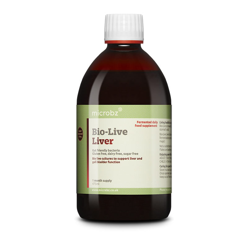Bio-Live Liver: A single bottle of Bio-Live Liver on a white background