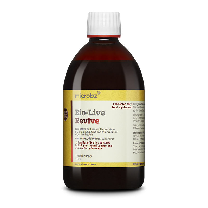 Bio-Live Revive: A single bottle of Bio-Live Revive on a white background
