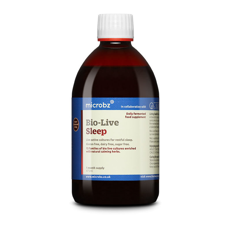 Bio-Live Sleep: A single bottle of Bio-Live Sleep on a white background