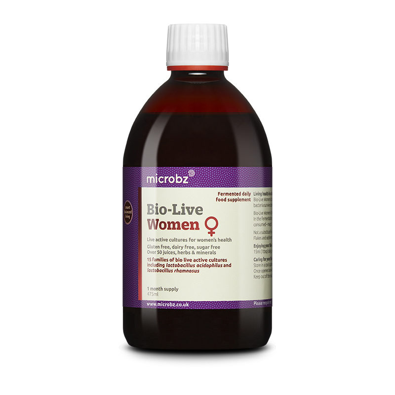 Bio-Live Women: A single bottle of Bio-Live Women on a white background