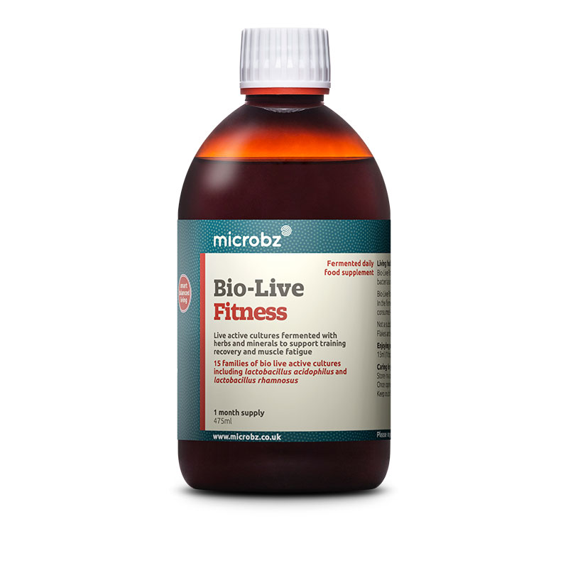 Bio-Live Fitness: A single bottle of Bio-Live Fitness on a white background